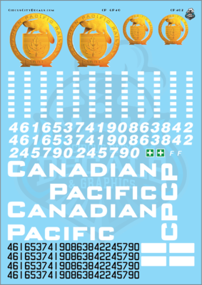 Canadian Pacific GP40 G Scale Decal Set Aristocraft