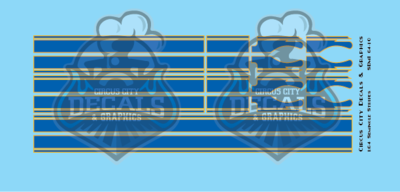 Seminole Stripe Blue/Gold Outline 1:64 Scale