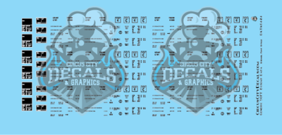 Generic Modern 50' Boxcar Data Only Black Stencil Font S Scale Decal Set 1:64