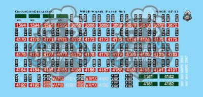 Wisconsin & Southern Railroad Watco WAMX WSOR Locomotive renumbering Patch Set HO Scale