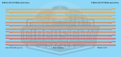Semi Stripes Style 1 Orange DCP 1:64 Scale