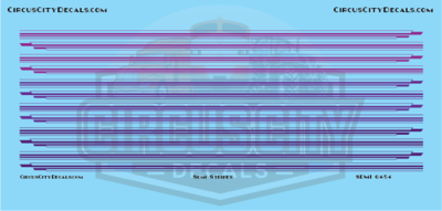 Semi Stripes Style 1 Purple DCP 1:64 Scale