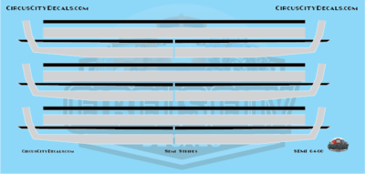 Semi Stripes Style 2 Blue DCP 1:64 Scale