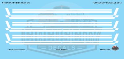 Semi Stripes Style 3 White DCP 1:64 Scale