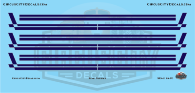Semi Stripes Style 3 Navy with Orange Pinstripe DCP 1:64 Scale