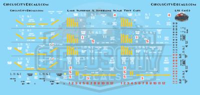 Lake Superior & Ishpeming Railroad LS&I Scale Test Ore Cars S Scale Decal Set