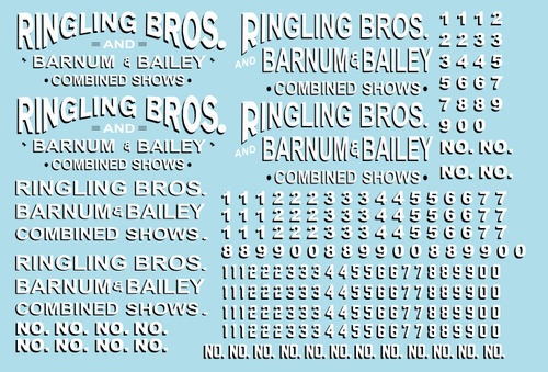 RB303 Ringling Bros. & Barnum Bailey Circus RBBB Wagon Decals O Scale
