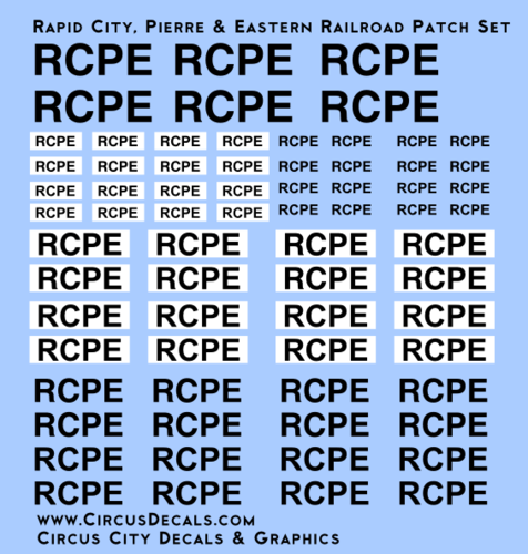 Rapid City, Pierre & Eastern Railroad RCPE Patch Set