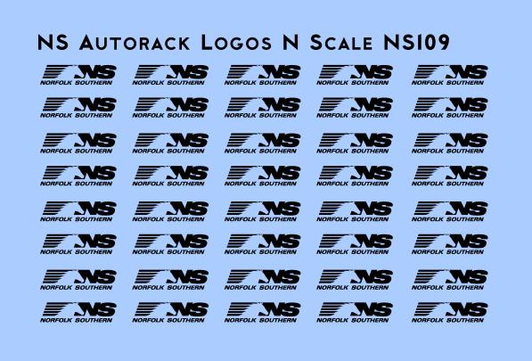 Norfolk Southern Autorack Logos N scale Decals