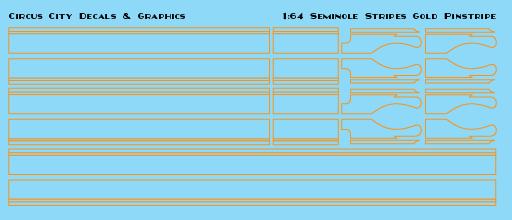 Seminole Stripe Gold Pinstripe 1:64 Scale