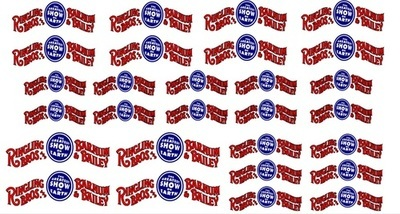 RB205 Ringling Bros. & Barnum Bailey RBBB Circus Wagon Banner Decals HO Scale