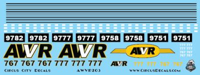 AWVR Unstoppable Movie 767/777 AC4400 HO Scale