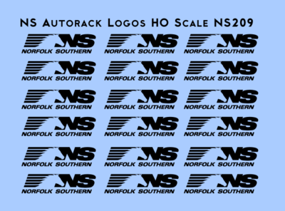 Norfolk Southern Autorack Logos HO scale Decals