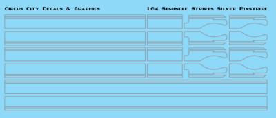 Seminole Stripe Silver Pinstripe 1:64 Scale