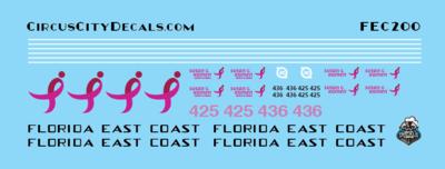 Florida East Coast 425 436 Breast Cancer Units HO Scale