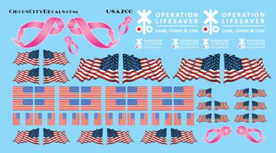 Freelance Railroad Flags & Logos HO Scale Locomotives & Cars