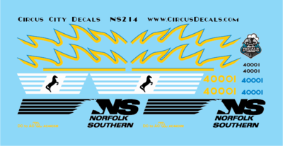 Norfolk Southern AC44C6M Rebuild 4000 4001 Set HO Scale