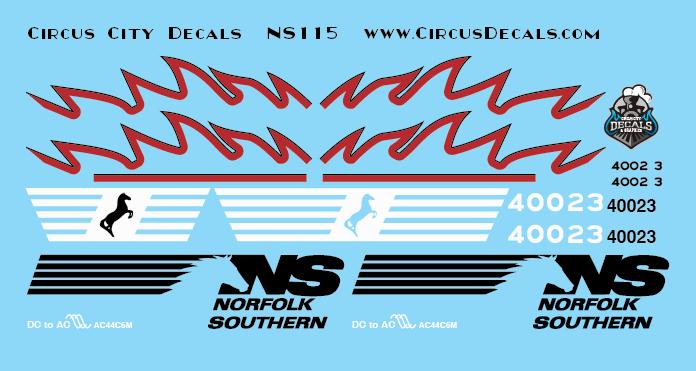 Norfolk Southern AC44C6M Rebuild 4002 4003 Set N Scale