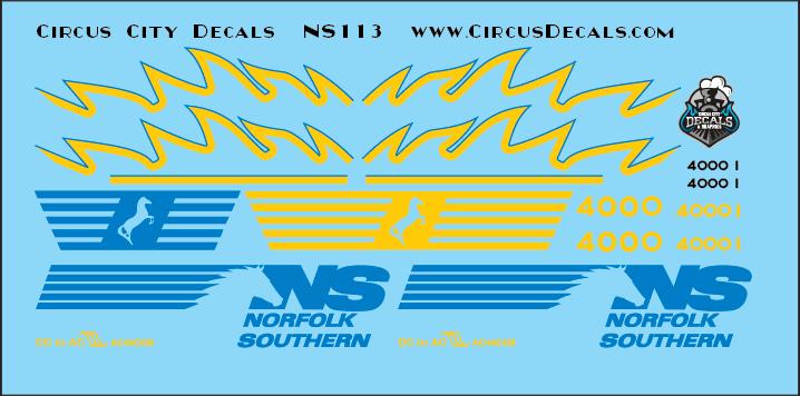 Norfolk Southern AC44C6M Rebuild 4000 4001 Original Set N Scale