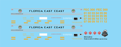 Florida East Coast LGN Liquid Natural Gas Fuel Tender HO Scale FEC