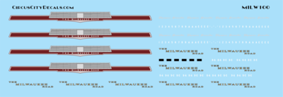 Milwaukee Road Erie Built Decal Set N Scale