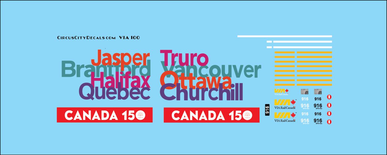 VIA Canada 150 P42 N Scale 916