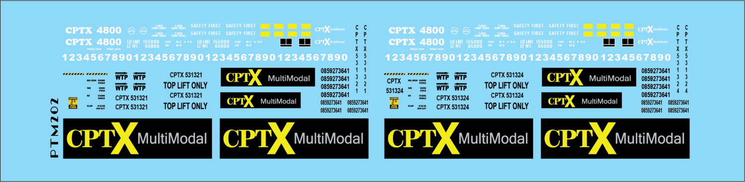 Co-Operative Railroad Intermodal Service Decal Set N Scale