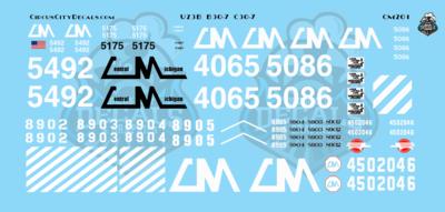 Central Michigan U23B B30-7 C30-7 CMGN S Scale Decals