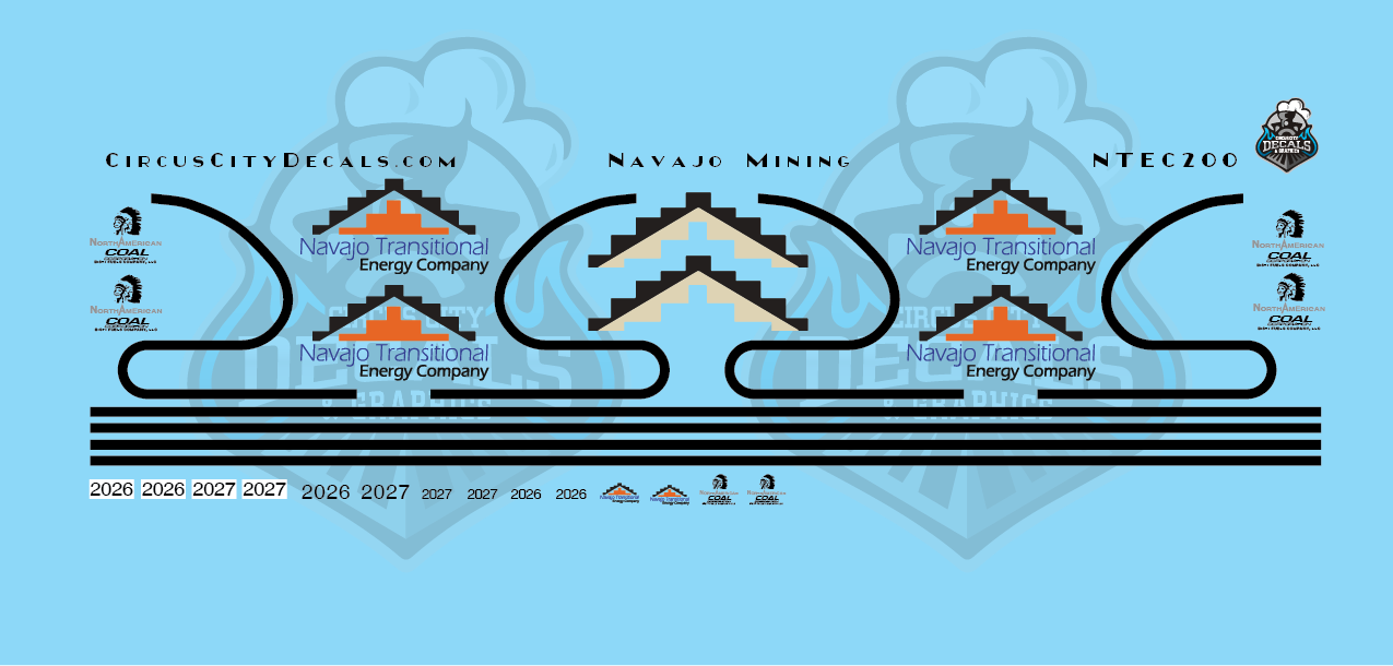 Navajo Transitional Energy Co. ET44AC HO Scale Decals