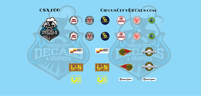CSX Commemorative Logos CW44AC SD40-3 N Scale Decals