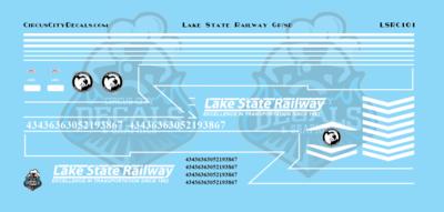 Lake State Railway GP/SD Locomotive Decals N Scale