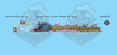 Thomas the Tagged Engine SKNX CP 625175 Graffiti HO Scale Decal Set