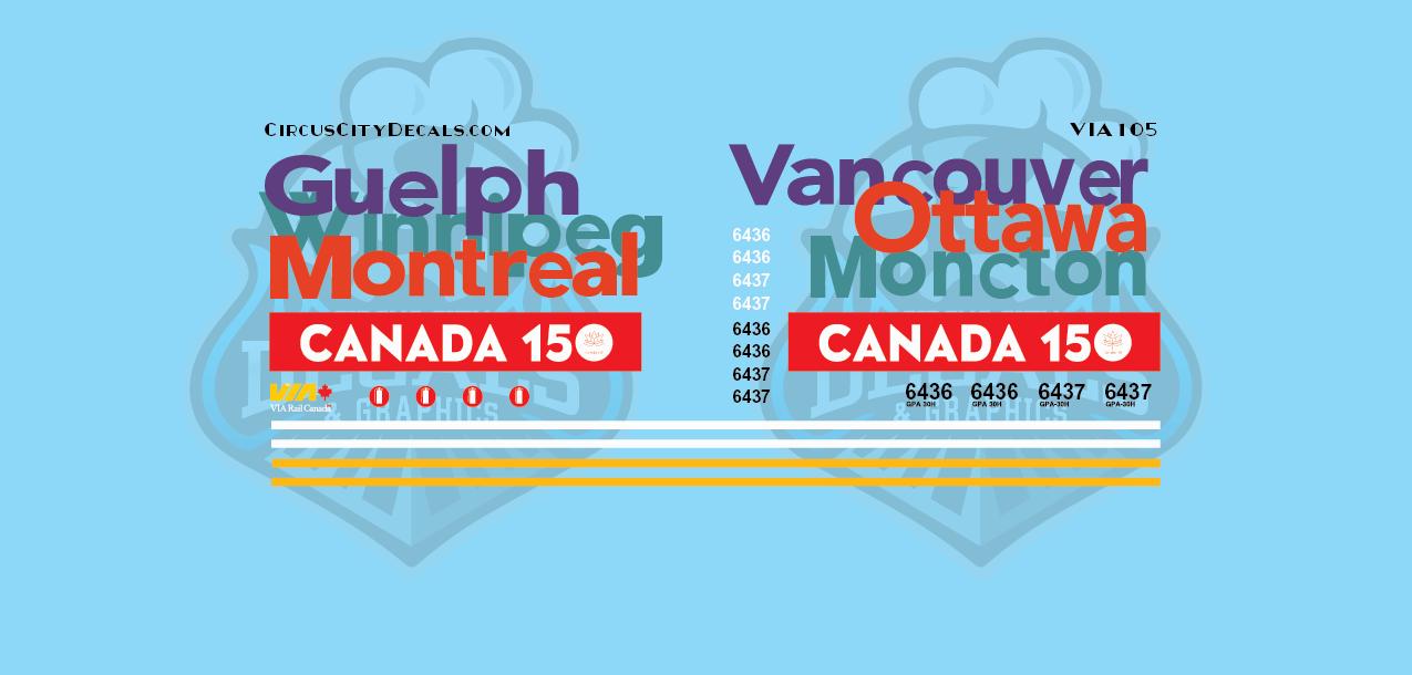 VIA Canada 150 F40 N Scale 6436 6437