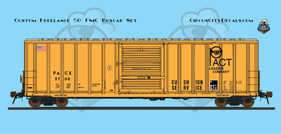 PACT Rail Leasing HO Scale Boxcar Set