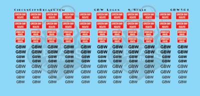 Green Bay & Western Logos S Scale