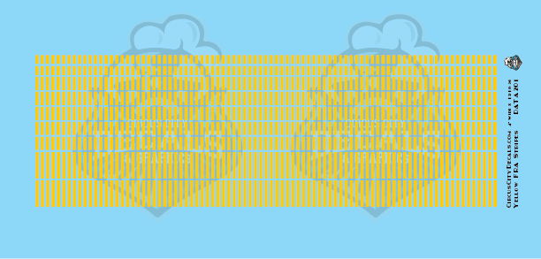 FRA Yellow Stripe Waterslide Decal Set