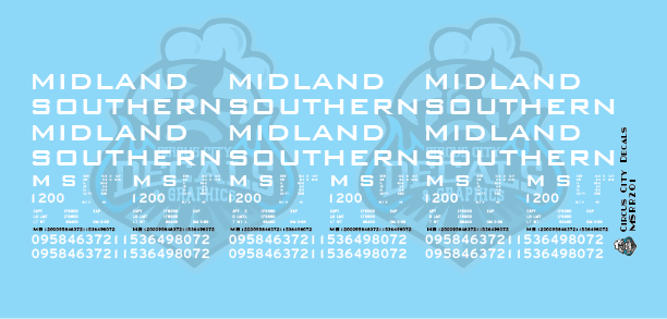 Midland Southern Autoparts Boxcar Decal Set HO Scale
