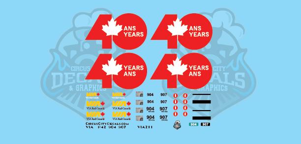 VIA Canada 40 P42 HO Scale 904 907