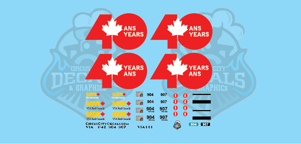 VIA Canada 40 P42 N Scale 904 907