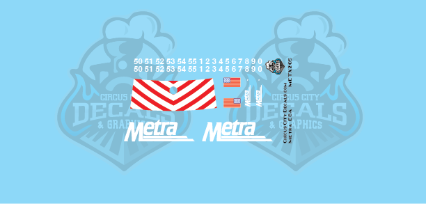 Metra METX E8A HO Scale Decal Set