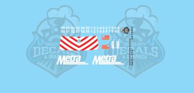 Metra METX E8A N Scale Decal Set