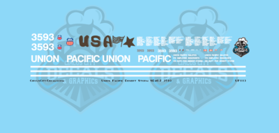 Union Pacific Desert Storm 3593 SD40-2 N Scale Decal Set