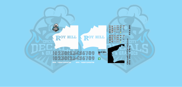 Roy Hill ES44 HO Scale Decal Set