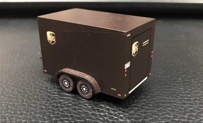 UPS Enclosed Trailer KIT 7x12 HO Scale
