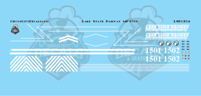 Lake State Railway MP15 Locomotive Decals HO Scale