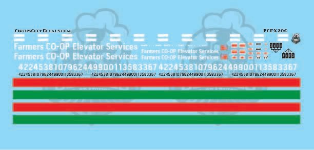 Farmers CO-OP Elevator Services Decal Set HO Scale FCPX
