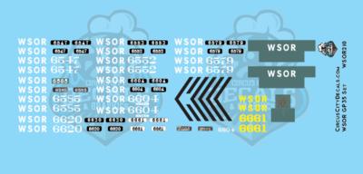 Wisconsin & Southern Railroad GP35 Decal Set WSOR