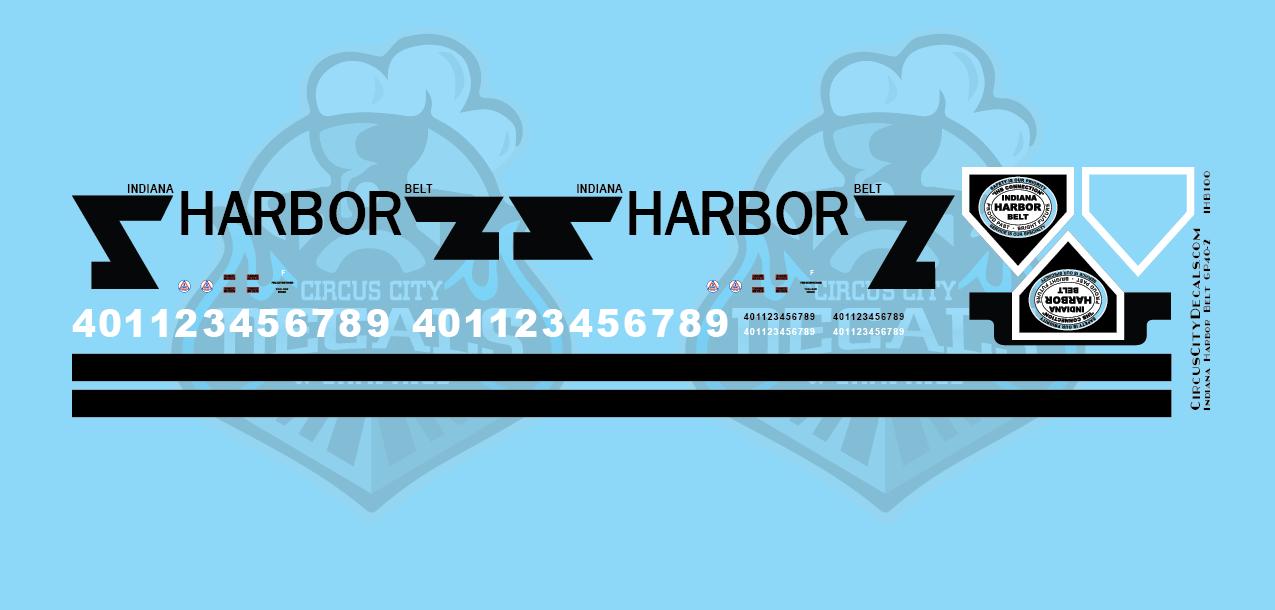Indiana Harbor Belt GP40-2 N Scale Decal Set