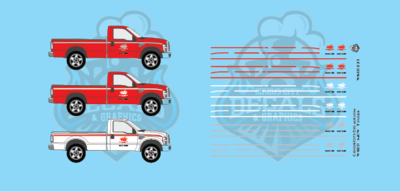 Wisconsin & Southern Railroad MOW Truck Decal Set WSOR