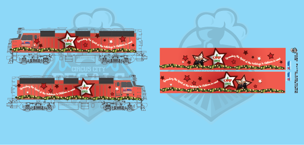 Operation North Pole Metra Locomotive 2018 F40PH